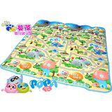 【蔓葆嬰兒爬行墊】台灣限定款POPA Family趣味迷宮單薄款攜帶型180cm*180cm*0.45(兒童遊戲墊 地墊 保潔墊)