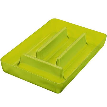 《KOZIOL》Rio 4格餐具收納盒(透綠)