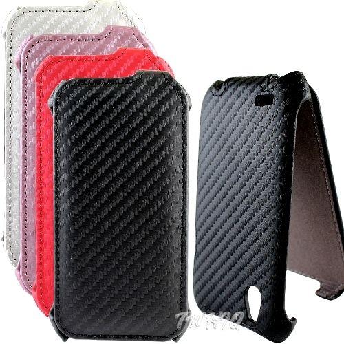 HTC Desire C 動感卡夢紋 下掀式/掀蓋式 手機皮套