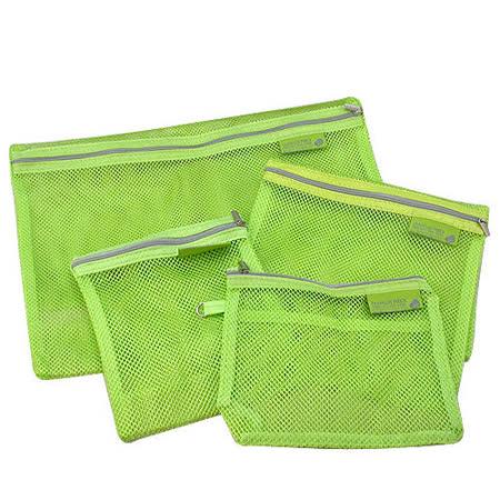 ... 旅行專用*多功能4件組收納袋/綠 -GOHAPPY快樂購物網