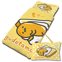 【享夢城堡】超纖單用4X5兒童睡袋-gudetama吐司蛋黃哥-黃