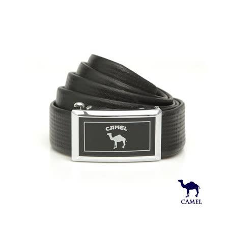 DF【包學院】CAMEL駱駝 - 經典品牌款自動滑扣頭層牛皮皮帶