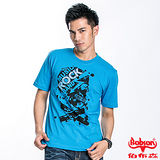 BOBSON 男款ROCK骷髏短袖上衣(藍22023-54)