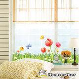 Decoin【花與蝴蝶】牆面裝飾創意壁貼(HS-SWST47)