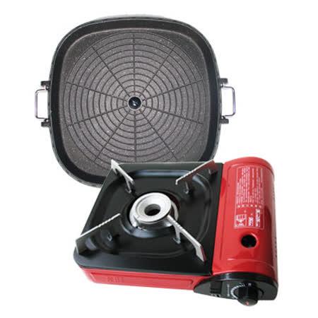 【好物分享】gohappy【K-ONE】卡旺111攜帶式卡式爐(K1-111V) +韓國最新火烤兩用烤盤@條狀盤(tray-2 )哪裡買sogo taipei