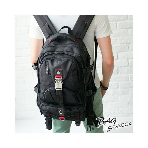 DF~Bag school~帥勁酷炫大容量NB後背包