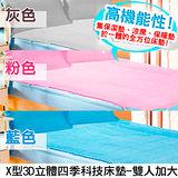 X型3D立體四季科技床墊-雙人加大-3色可選