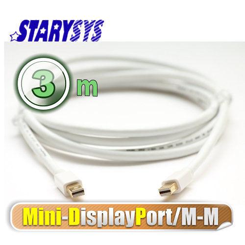 曜兆STARY高級線材Mini DisplayPort-3公尺圓線(公-公)