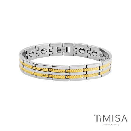 【TiMISA】豐收之歌-寬版 純鈦鍺手鍊(兩色可選)