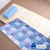 【米夢家居】台灣製造~外宿熱賣(熱烘棉單人床墊+記憶枕)二件一組