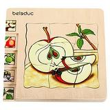 德國Beleduc貝樂多-多層木拼圖-蘋果(五合一多層木拼圖)