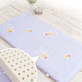 幻紫【奶油獅】100%精梳純棉布套+馬來西亞進口純天然乳膠嬰兒床墊(大70*130cm)