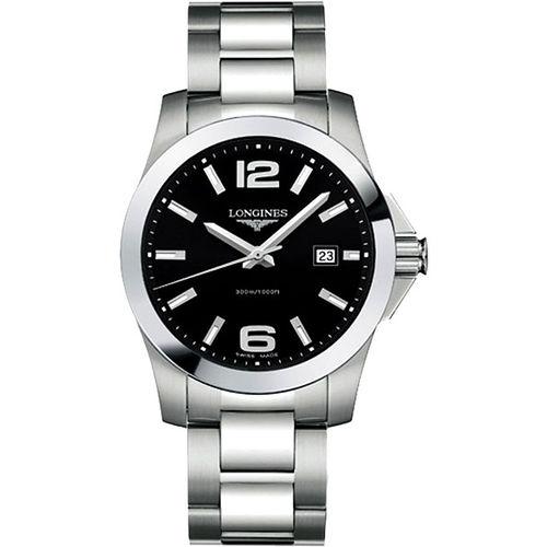 LONGINES 深海征服者300米腕錶-黑/銀 L36594586