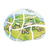 德國Beleduc貝樂多-多層木拼圖-青蛙(五合一多層木拼圖)