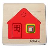 德國Beleduc貝樂多-多層木拼圖-可愛小屋(五合一多層木拼圖)