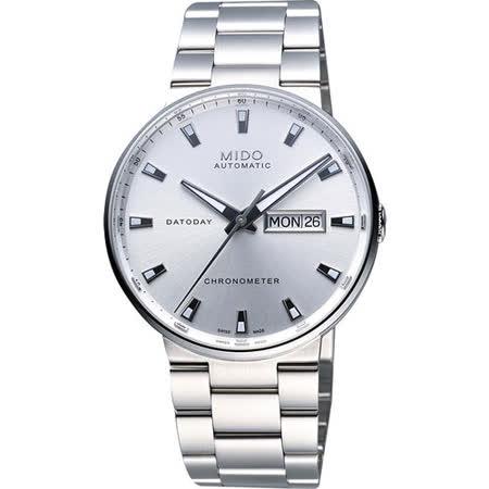 MIDO Commander II 機械腕錶(M0144311103100)-銀