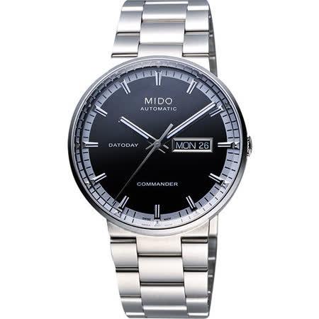 MIDO Commander II香榭系列第二代機械腕錶(M0144301105100)-黑/銀