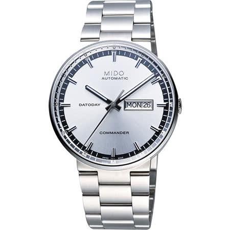 MIDO Commander II香榭系列第二代機械腕錶(M0144301103100)-銀
