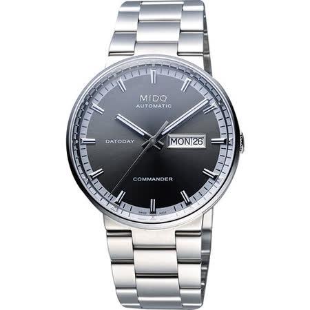 MIDO Commander II香榭系列第二代機械腕錶(M0144301106100)-灰/銀