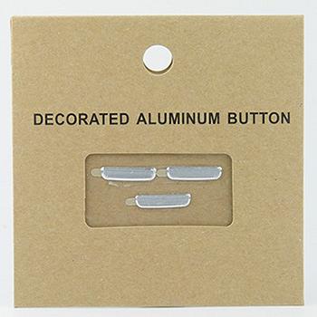 金屬髮絲紋按鍵貼(單色三顆一組) for Samsung Galaxy S3