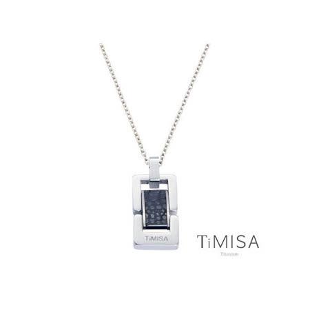 【TiMISA】浪漫告白-小(個性黑/玫瑰金)純鈦鍺項鍊