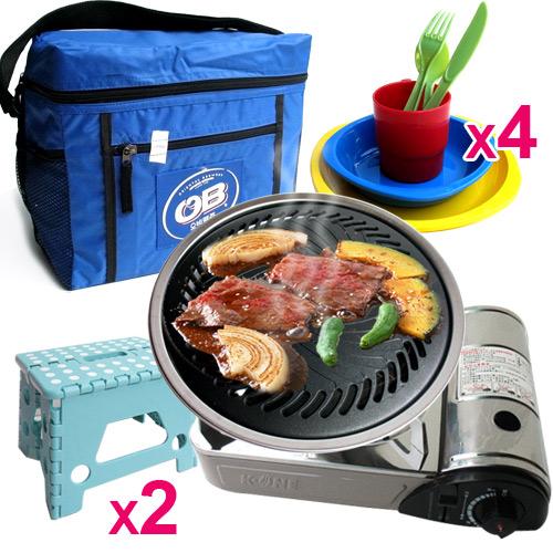 5組合《中秋烤肉必備》【卡旺】遠紅外線瓦斯爐(K1-1200V)