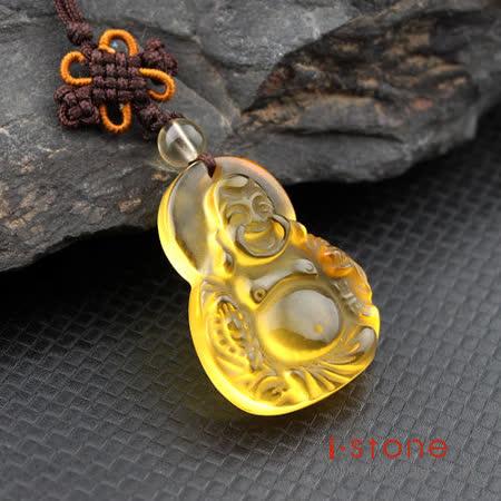石頭記 護身佛系列-彌勒佛-大 黃水晶