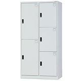 HAPPYHOME~免組裝~多用途3x6尺鋼製5格置物櫃HDF-BL-2505A