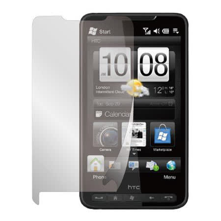 HTC HD-2 抗刮螢幕保護貼 (HC) - 兩入