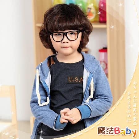 (購物車)魔法Baby ~韓版潮流連帽外套(灰)~小潮男女童裝~k23701