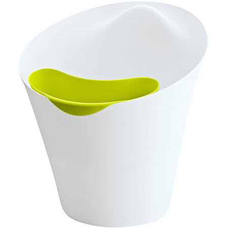《KOZIOL》Ba設計獎2層垃圾桶(白綠)