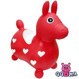 【QQMa】快樂寶貝好開心充氣跳跳馬(紅)