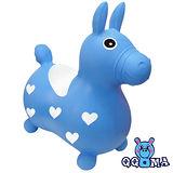 【QQMa】快樂寶貝好開心充氣跳跳馬(藍)