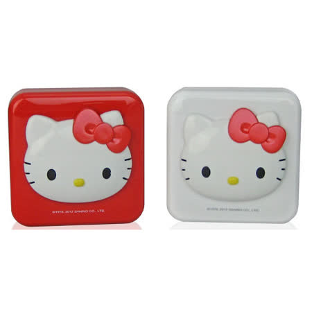 Hello Kitty 全電壓AC轉USB充電器 KT-CR02 (紅/白兩色)