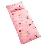 《繽紛樂園~粉》鋪棉兩用睡袋組4.5*5尺(台灣製)
