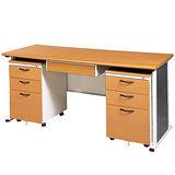 SYS木紋辦公桌櫃組247-2(150)