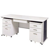 YS淺灰色辦公桌櫃組248-2(150)