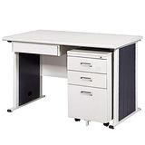 YS淺灰色辦公桌櫃組248-3(120)