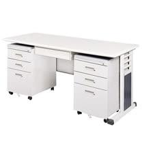 MSC淺灰色辦公桌櫃組255-6(150)