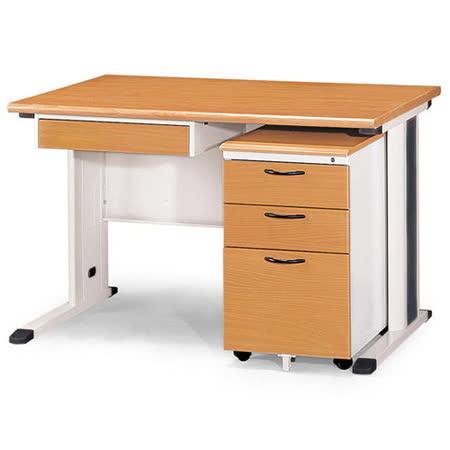 SKH木紋辦公桌櫃組258-3(120)