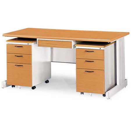SHU木紋辦公桌櫃組(150)