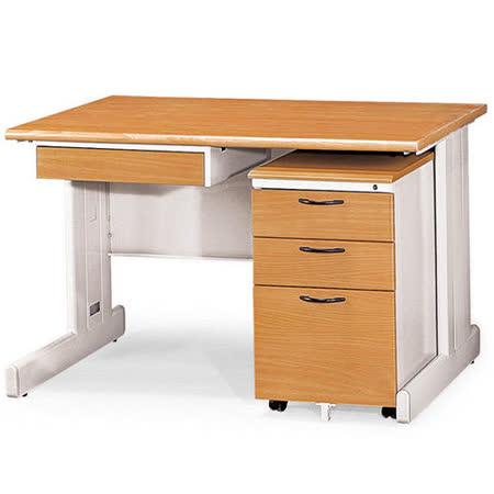 SHU木紋辦公桌櫃組(120)