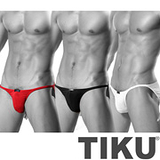 【TIKU 梯酷】 夜店男孩 低腰三角男內褲(BM1018+WM1018+RM1018)超值3件組