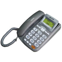 SANYO  三洋 TEL-805 來電顯示有線電話機(鐵灰)