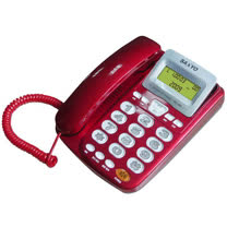 SANYO 三洋 TEL-817來電顯示有線話機 (紅)