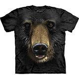 『摩達客』美國進口【The Mountain】自然純棉系列 黑熊臉設計T恤 (預購)
