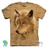 『摩達客』美國進口【The Mountain】自然純棉系列 金狼眼設計T恤 (預購)