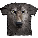 『摩達客』美國進口【The Mountain】自然純棉系列 狼臉設計T恤 (預購)