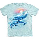 『摩達客』美國進口【The Mountain】自然純棉系列 海豚日落設計T恤 (預購)