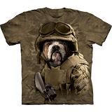 『摩達客』美國進口【The Mountain】自然純棉系列 迷彩鬥牛犬設計T恤 (預購)